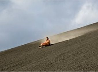 Why Not Ride A Sled Down an Active Volcano?