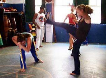 Kicking and Tumbling through Capoeira class in Brazil