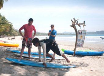 Learning To Surf in Playa Samara in Costa Rica