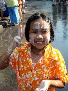 Songkran festival bangkok thailand