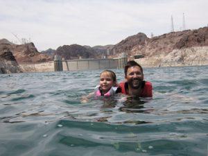 Swimming in Lake Mead. photo Airstreamlife.com