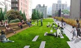 The High Line, a 1-mile walking trail in lower Manhattan NYC.