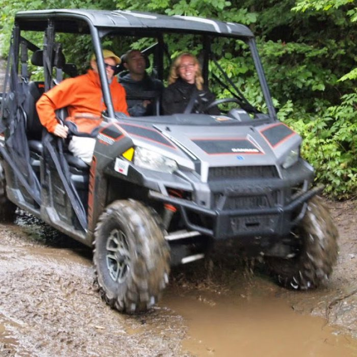 Riding at ATV in New Hampshire's far north, where there are 1000 continous miles of trails to enjoy.