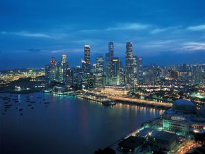 Singapore at night.