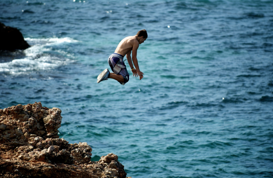 cliff diving