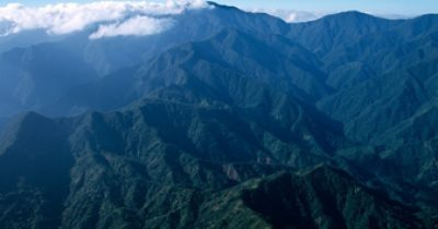 Jamaicas Blue Mountains, where the great coffee is grown.