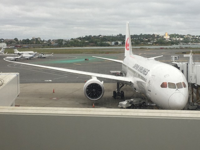 A Japan Airlines Boeing Dreamliner, the plane that will start flying from New Orleans to London soon.