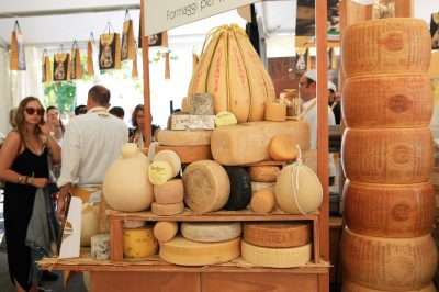 The Slow Food cheese competition in Bra, Italy.