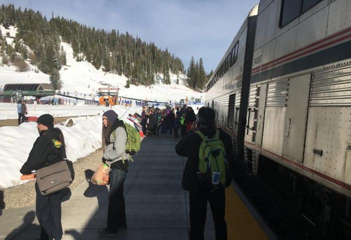 Amtrak's Denver Ski Train to Winter Park. Max Hartshorne photo/GoNOMAD