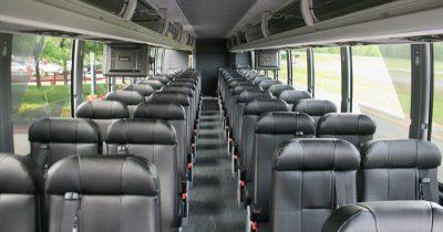 The interior of a Bolt Bus.