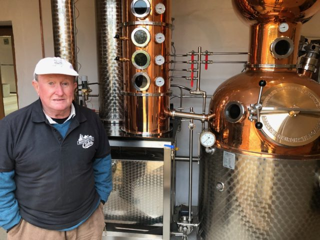 A still that makes gin on Guernsey.